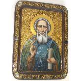 Преподобный Сергий Радонежский чудотворец, Живописная икона, 21 Х29