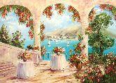 """Картина на холсте """"Терраса с видом на море"""""""