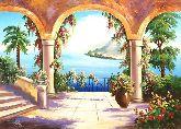 "Картина на холсте ""Отдых на морском побережье"""
