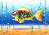 "Картина на холсте ""Разноцветная рыбка"""