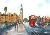 """Картина на холсте """"Улица Лондона"""""""