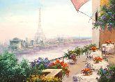 """Картина на холсте """"Парижское кафе"""""""