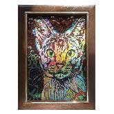 Радужный кот абстракция из янтаря