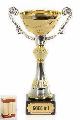 Кубок подарочный Чаша золотая с серебр.рельефными ручками БОСС №1