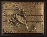 """Деревянное панно """"Скорпион"""" малое"""
