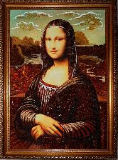 Репродукция из янтаря Мона Лиза