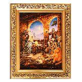 Рождение Христа икона из янтаря