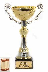 Кубок подарочный Чаша золотая с серебр.рельефными ручками Лучший из лучших