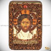 Спас Нерукотворный, настольная икона, 10х15 на мореном дубе