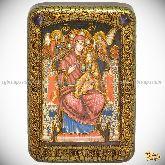 Божией Матери «Всецарица (Пантанасса)», настольная икона, 10х15 на мореном дубе