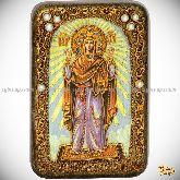 Божией Матери «Нерушимая Стена», настольная икона, 10х15 на мореном дубе