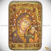Образ Казанской Божией Матери, настольная икона, 10х15 на мореном дубе