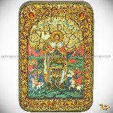 Святой благоверный князь Александр Невский, настольная икона, 10х15 на мореном дубе