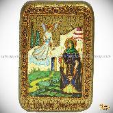 Святая преподобная Ирина Каппадокийская (Хрисоволанта), настольная икона, 10х15 на мореном дубе