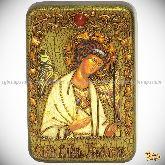Ангел Хранитель, настольная икона, 10х15 на мореном дубе