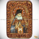 Святитель Лука Симферопольский, архиепископ Крымский, настольная икона, 10х15 на мореном дубе