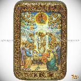 Успение Пресвятой Богородицы, настольная икона, 10х15 на мореном дубе