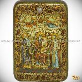 Божией Матери «Пресвятой Богородицы «Экономисса (Домостроительница)», настольная икона, 10х15 на мореном дубе