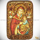 Пресвятой Богородицы «Страстная», настольная икона, 10х15 на мореном дубе