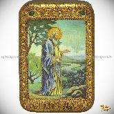 Святой праотец Адам, настольная икона, 10х15 на мореном дубе