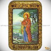 Святая праматерь Ева, настольная икона, 10х15 на мореном дубе