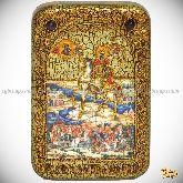 Святой Благоверный Князь Димитрий Донской, настольная икона, 10х15 на мореном дубе