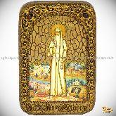 Святая преподобномученица великая княгиня Елисавета, настольная икона, 10х15 на мореном дубе