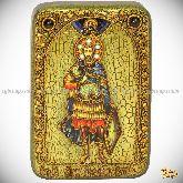 Святой мученик Иоанн Воин, настольная икона, 10х15 на мореном дубе