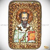 Святой апостол Родион (Иродион), епископ Патрасский, настольная икона, 10х15 на мореном дубе