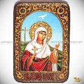Святая мученица Иулия (Юлия) Карфагенская, настольная икона, 10х15 на мореном дубе