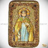 Святая преподобная Ангелина Сербская, настольная икона, 10х15 на мореном дубе