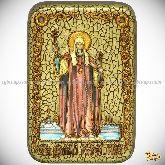 Святитель Филипп, митрополит Московский, настольная икона, 10х15 на мореном дубе