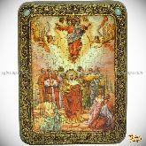 Вознесение Господне, подарочная икона, 15х20 на мореном дубе