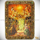 Воскресение Христово, подарочная икона, 15х20 на мореном дубе
