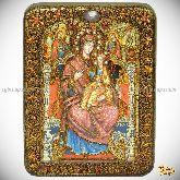 Божией Матери «Всецарица (Пантанасса)», подарочная икона, 15х20 на мореном дубе