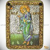 Святой апостол Андрей Первозванный, подарочная икона, 15х20 на мореном дубе