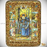 Преподобный Серафим Саровский чудотворец, Переславский чудотворец, подарочная икона, 15х20 на мореном дубе