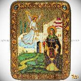 Святая преподобная Ирина Каппадокийская (Хрисоволанта), подарочная икона, 15х20 на мореном дубе