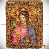 Ангел Хранитель, подарочная икона, 15х20 на мореном дубе