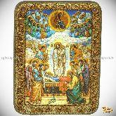Успение Пресвятой Богородицы, подарочная икона, 15х20 на мореном дубе