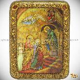Введение Во Храм Пресвятой Богородицы, подарочная икона, 15х20 на мореном дубе