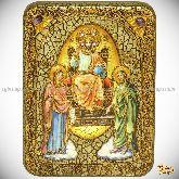 Царь Царем, подарочная икона, 15х20 на мореном дубе