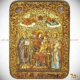 Божией Матери Пресвятой Богородицы «Экономисса (Домостроительница)», подарочная икона, 15х20 на мореном дубе