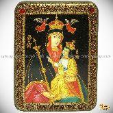 Божией Матери «Белыничская», подарочная икона, 15х20 на мореном дубе