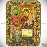 """Пресвятой Богородицы """"Нечаянная Радость"""", подарочная икона, 15х20 на мореном дубе"""