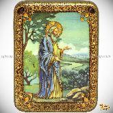 Святой праотец Адам, подарочная икона, 15х20 на мореном дубе