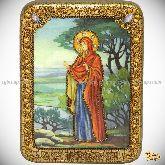 Святая праматерь Ева, подарочная икона, 15х20 на мореном дубе
