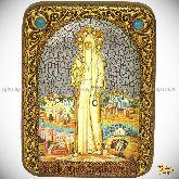 Святая преподобномученица великая княгиня Елисавета, подарочная икона, 15х20 на мореном дубе