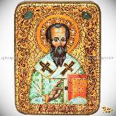 Родион (Иродион) апостол, епископ Патрасский, подарочная икона, 15х20 на мореном дубе