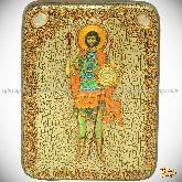 Святой мученик Валерий Севастийский, подарочная икона, 15х20 на мореном дубе
